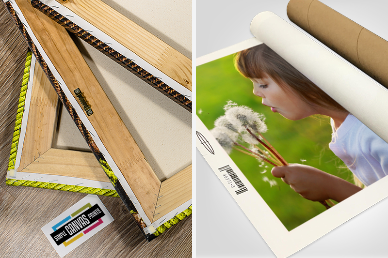 the difference between rolled and mounted stretched canvas prints