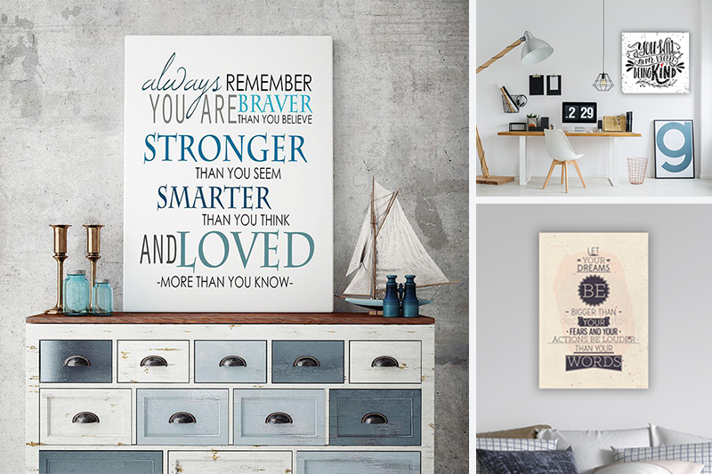 Showcase Wisdom on a Canvas Print - Motivational Wall Art